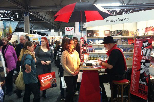 Buchmesse 2013, Ulrich Forchner zeichnet