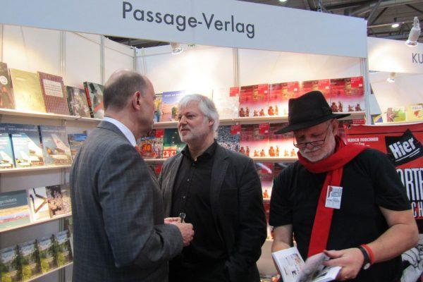 Buchmesse 2013, Wolfgang Tiefensee und Ulrich Forchner