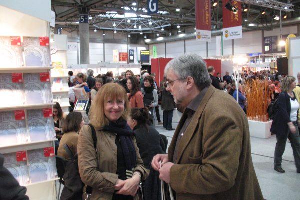 Buchmesse 2016, Ingrid Sonntag und Hans-Jochen Marquardt