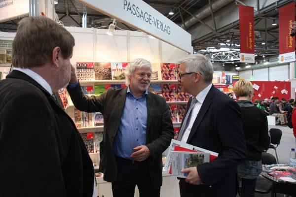 Leipziger Buchmesse 2017, Uwe Gaul, Staatssekretär im Sächsischen Staatsministerium für Wissenschaft und Kunst
