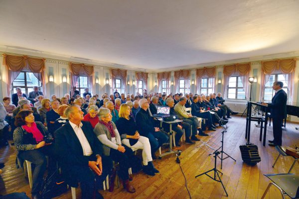 Leipziger Blätter 70, Präsentation, Alte Nikolaischule, 2017, Foto: Armin Kühne