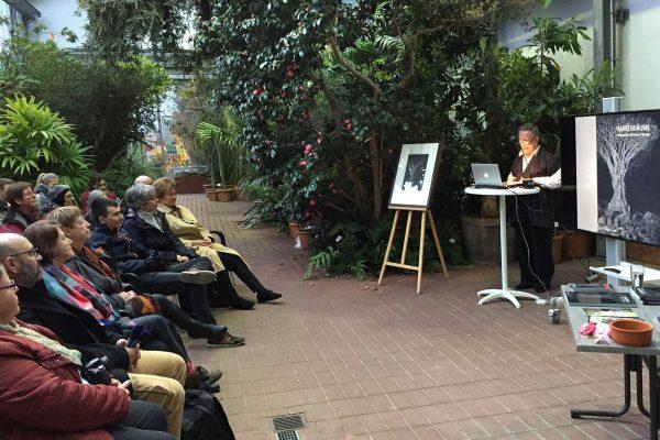 Narrenbäume, Buchpräsentation, Botanischer Garten, 15. März 2018