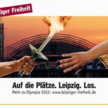 Leipziger Freiheit, Olympia 2012, Plakat, 2003