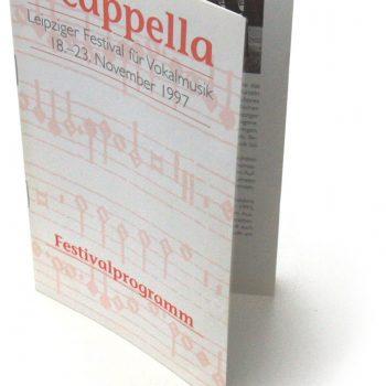 a cappella, Festivalprogramm, 1997
