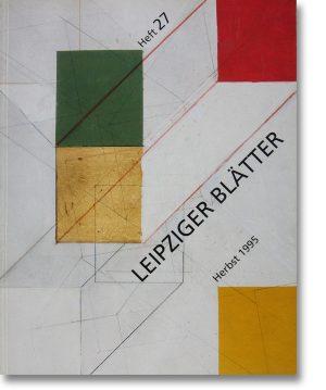 Leipziger Blätter 27