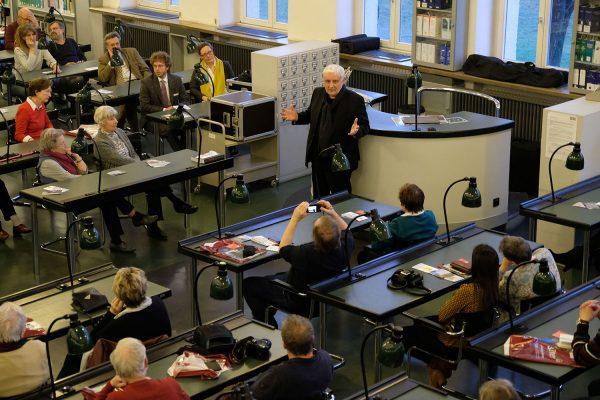 Leipziger Blätter 74, Präsentation, Wolfgang Hoquél, Bauhauslesesaal der Nationalbibliothek Leipzig, 25. März 2019