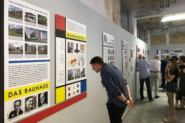 """Ausstellung """"Der Bauhausstil – Markenzeichen des Schocken-Warenhauskonzerns"""" in Crimmitschau"""