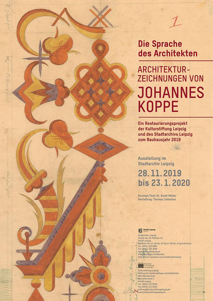Architekturzeichnungen von Johannes Koppe, Plakat