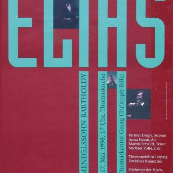 Elias – Felix Mendelssohn Bartholdy, Plakat