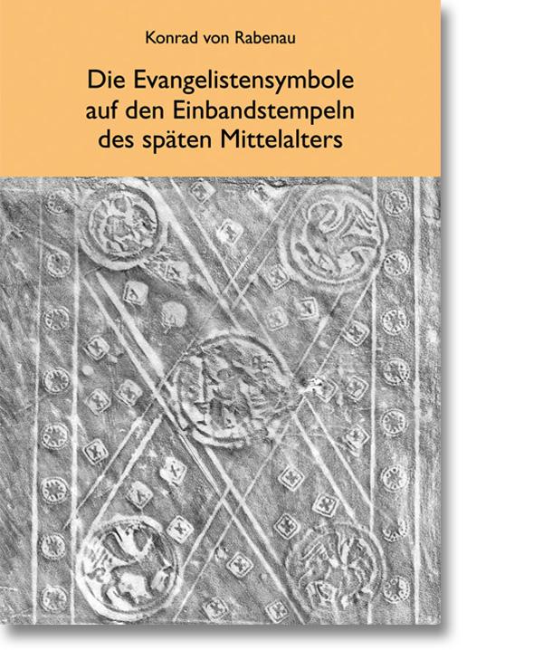 Evangelistensymbole auf den Einbandstempel des späten Mittelalters