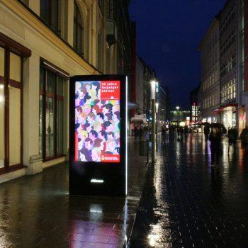 Plakat in der Leipziger Innenstadt, 2017